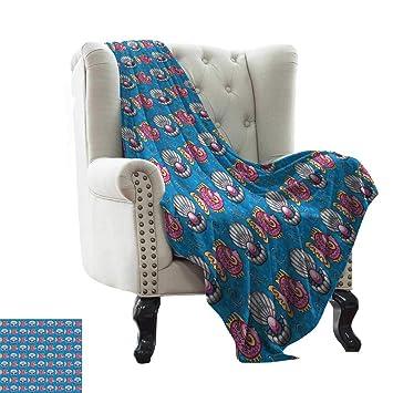 Amazon.com: LsWOW - Manta de algodón, diseño de pavo real ...