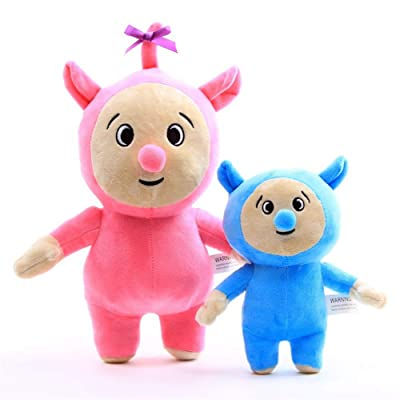 Moovi 2 PCS/Set Baby TV Billy and Bam Bam Plush 11.8''(30cm) and 7.8''(20cm) Figures Soft Toy for Kids: Toys & Games