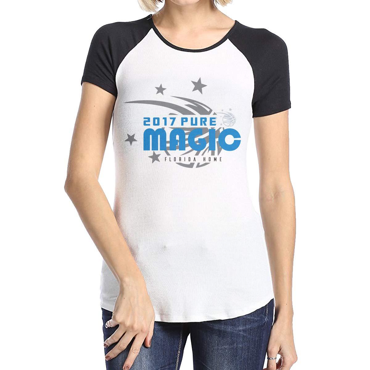 Girls Raglan/Sleeves Jersey Tee Shirt Black MiiyarHome Womens Short Sleeve Baseball T-Shirts Magic Tickets for Sale