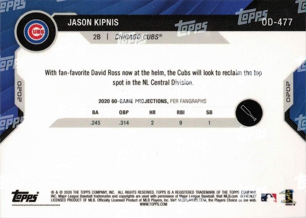 Only 1,363 made! 2020 Topps Now Summer Camp #OD-477 Jason Kipnis Baseball Card Cubs