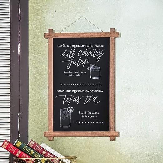 XuZeLii Pizarra Tarjeta De La Nota Enmarcada De Madera Grande Colgante Retro Pizarra Casa Club Restaurante Internet Cafe Publicidad Decoración De La Pared Adecuado para Escuelas Y Oficinas: Amazon.es: Hogar