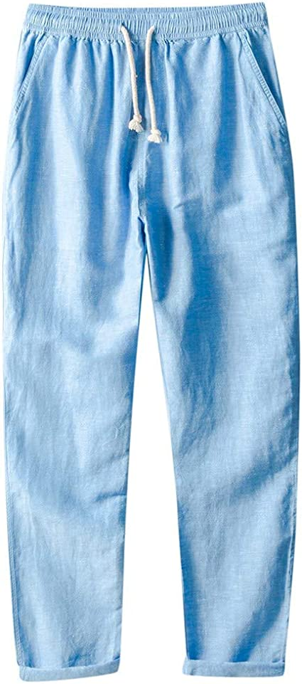 Suma-ma Womens Fashion Casual Cropped Pants,Ladies Drawstring Waisted Pleated Pant Casual Sweatpants Trousers