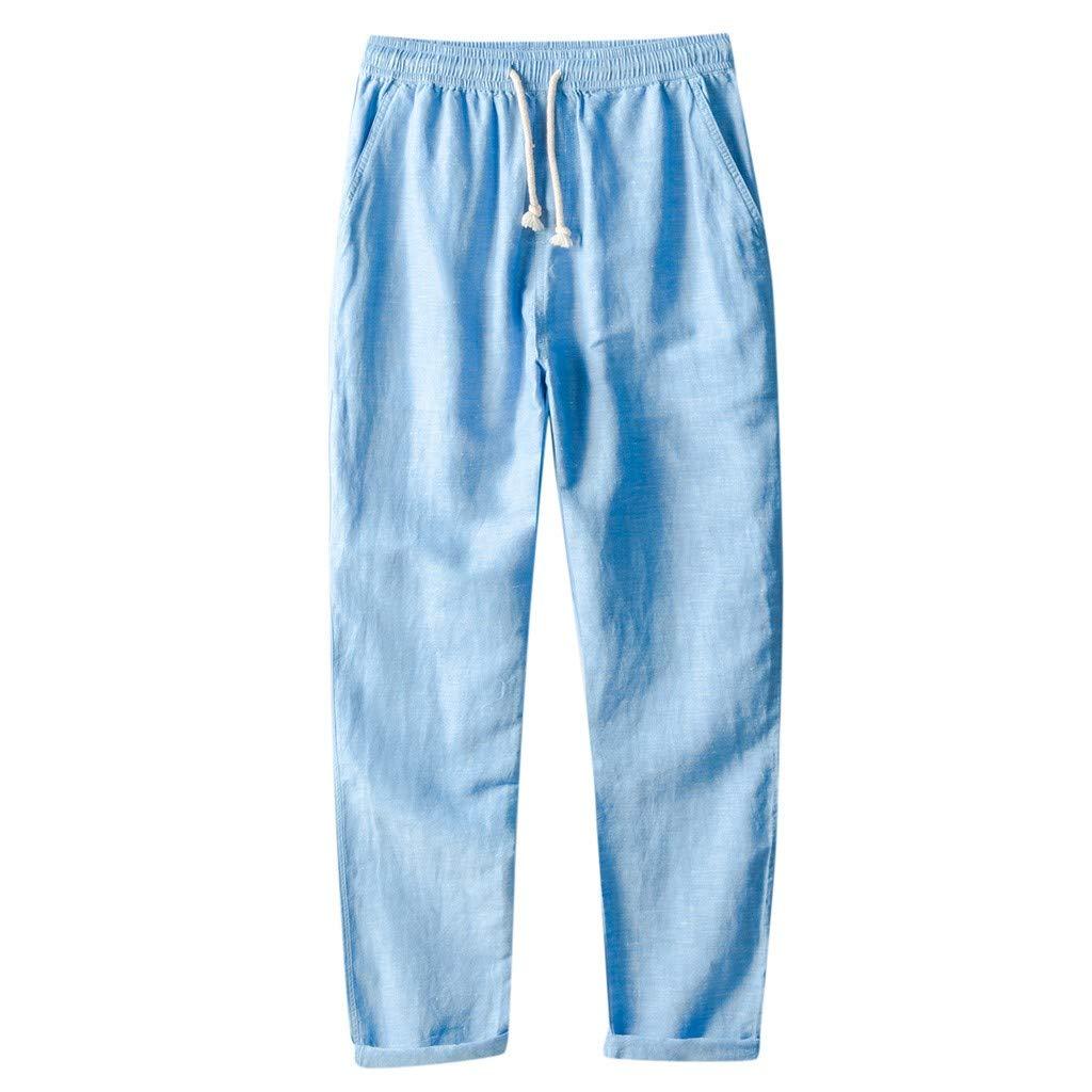 cinnamou Pantalones Hombre, Color SóLido Pantalones De Venda ...