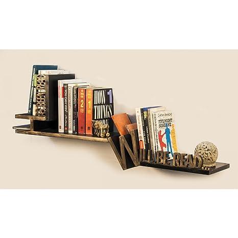 Generic Typographic Bookshelf Wall Shelves at amazon