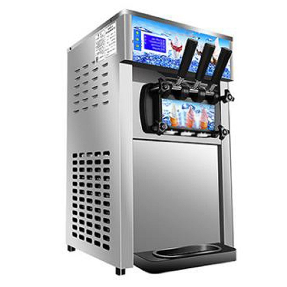 Commercial Ice Cream Machine, 110V / 60Hz 1200W Low Power Small Desktop Soft Ice Cream Making Machine US Plug(Without Refrigerant) by CARESHINE (Image #2)