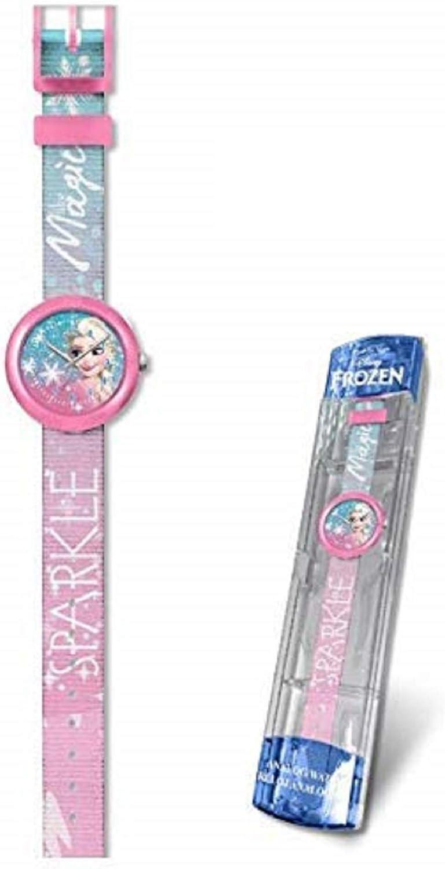 Disney Frozen Reloj analogico flik Kids Pulsera, Adultos Unisex, Multicolor, Unico