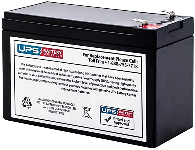 Fresh Stock UPSBatteryCenter APC Back-UPS ES 8-Outlet 350VA BE350R Compatible Replacement Battery
