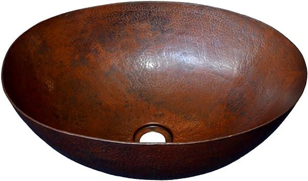 Native Trails Cps269 Maestro Oval Vessel Bathroom Sink Antique Copper Amazon Com