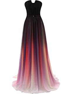 8460318c727 JAEDEN Gradient Prom Dress Formal Evening Gowns Chiffon Long Prom Party  Dresses
