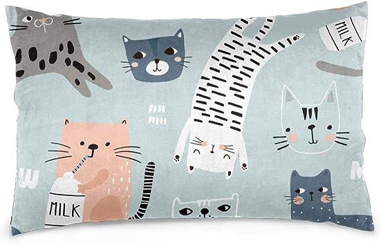 Diferentes gatos graciosos. Fundas de almohada de tiro de textura ...