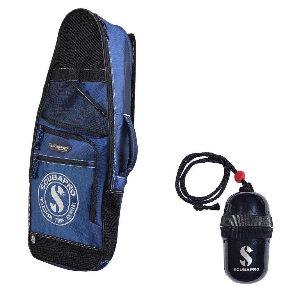 Scubapro Mask Fin Snorkel Beach Bag Divers Egg Dry-Box w/String Black