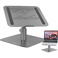 SurmountWay Adjustable Laptop Stand,Swivel Laptop Stand Multi-Angle Height Ventilated Laptop Riser for Desk, 360…