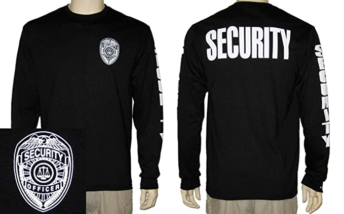 FireStoreOnline Security Officer Long Sleeve T-Shirt (Black)