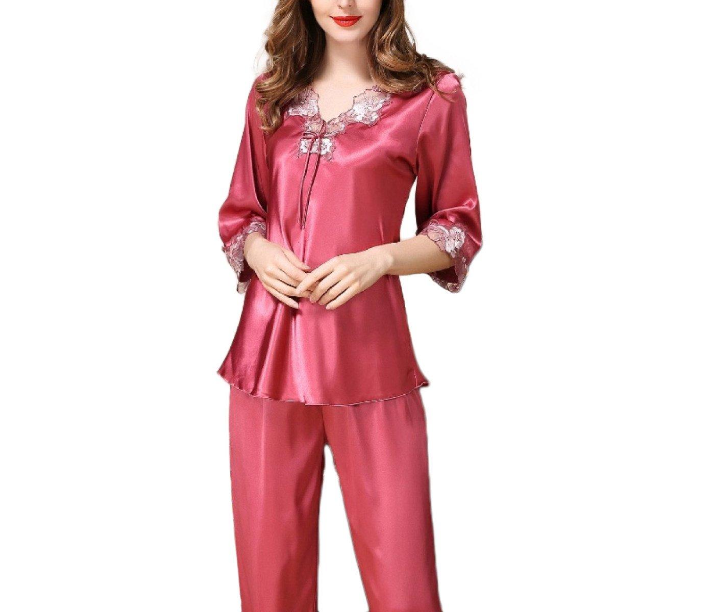 Conjunto De Pijama Pijama Mujer De Seda De Satén Para Mujer ...