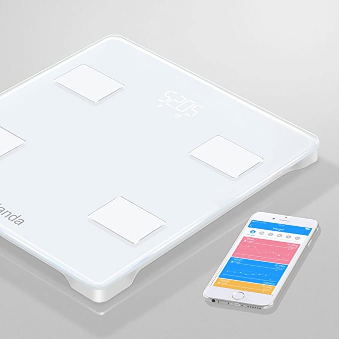 Yolanda Báscula Grasa Corporal Electrónico Báscula de Baño Digital Control por medio de APP y Bluetooth: Amazon.es: Bebé