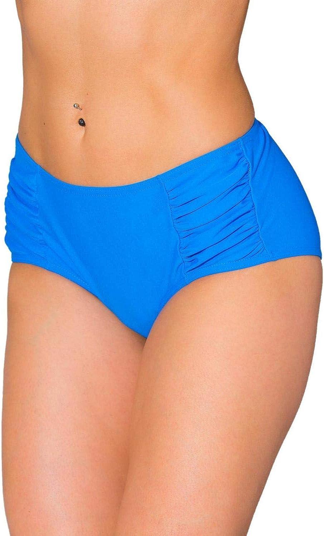 Aquarti Damen Bikinihose Hotpants mit seitlichen Raffungen
