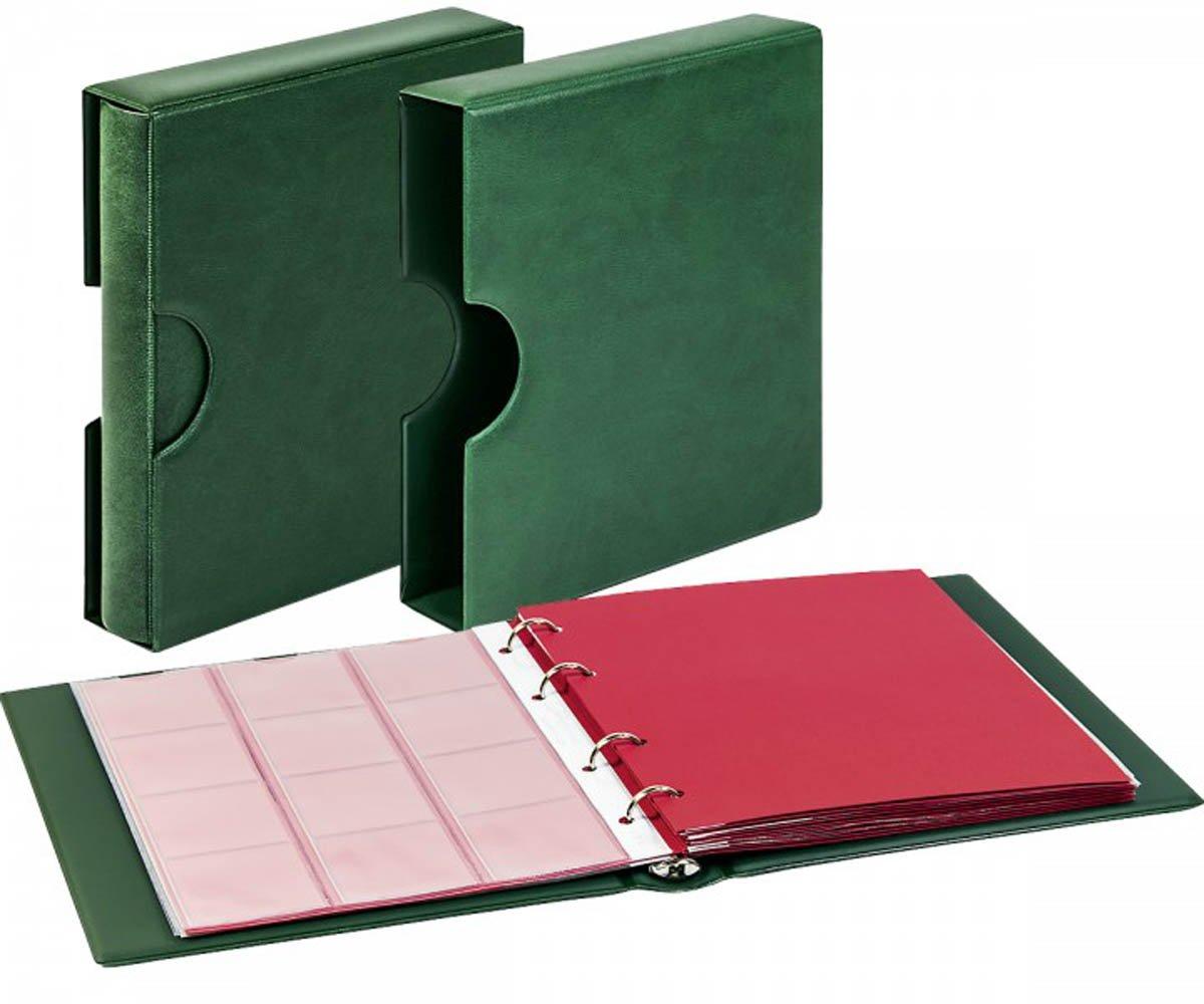 autorización oficial Set: álbum álbum álbum para monedas karat clásico con estuche con cavidades de agarre [Lindner 1106EK] con 10 hojas karat K2 ... K6 y K8, Color: verde  diseño simple y generoso