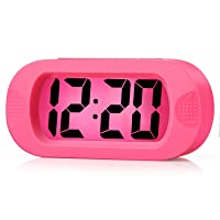 Kids Alarm Clock - Plumeet Large Digital LCD Travel Alarm Clocks with Snooze and...