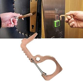 Avoid Touching Keep Safe keebgyy Hygiene Door Opener Portable Non-Contact Press Elevator Key Door Handle Key