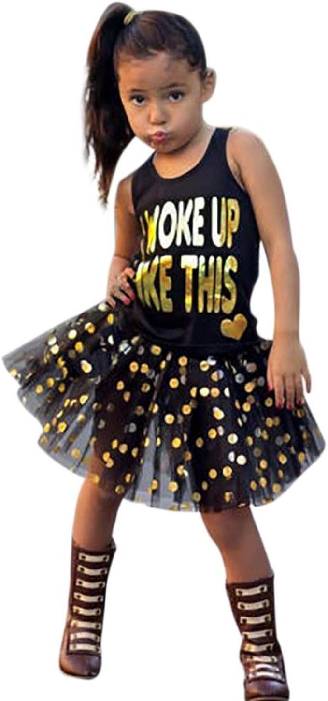 QinMM Conjunto de Falda Tutú + Camiseta para Niñas Pequeñas ...