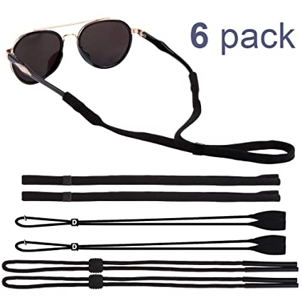 2920b99fd66 EnriQ Adjustable Eyewear Retainer THREE KINDS of Eyeglass Straps glasses  Straps Holder Chains Cords for Sports (6 Pack) Sunglass Straps for Men Women  ...