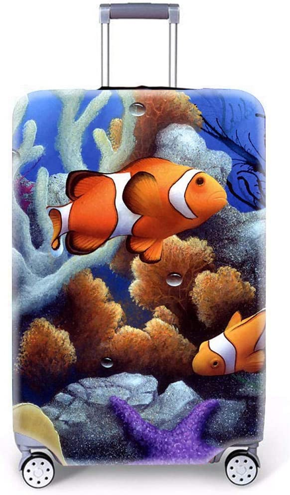 Sea Animals Pattern Suitcase Cover Funda de Equipaje por MukMok (Sin Maleta)-Pez Payaso l (26