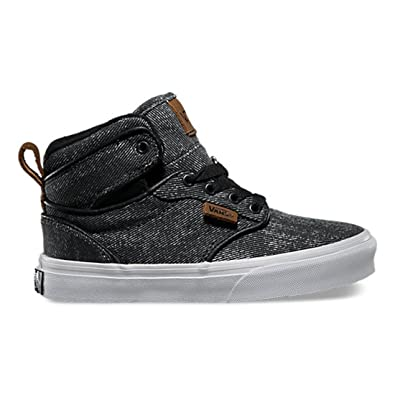Vans Atwood Hi Washed Twill Shoes - Black / Brown - UK 7
