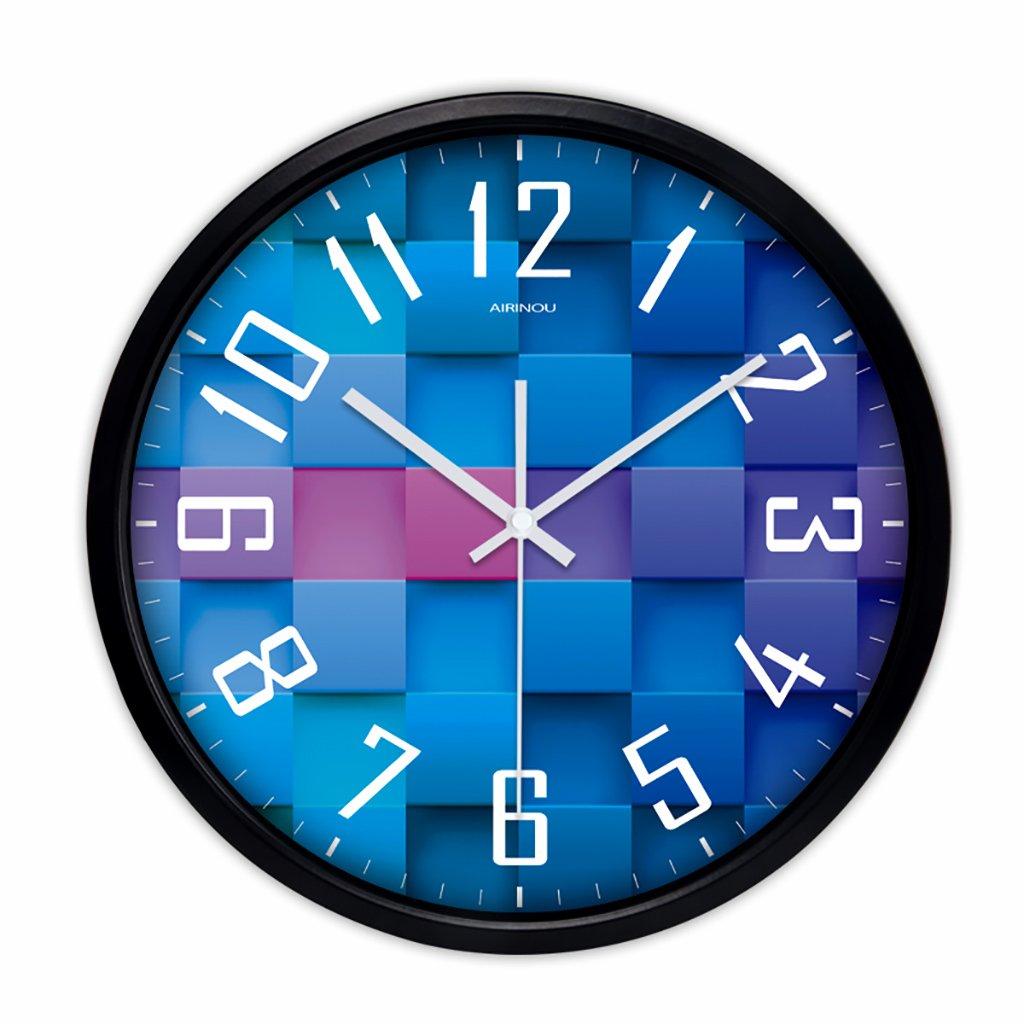 沈黙時計ウォールクロックリビングルームモダンなクリエイティブ人格ヨーロッパのクォーツ時計ハンギングベッドルームシンプルな時計 (色 : 2, サイズ さいず : 10in) B07FV76YMW 10in|2 2 10in