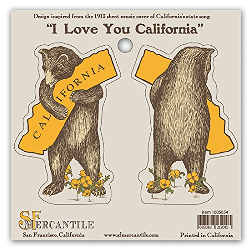 California Bear Hug Vinyl Sticker Set