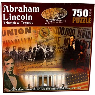 American History Abraham Lincoln Triumph and Tragedy Jigsaw Puzzle (750-Piece): Toys & Games