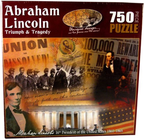 American History Abraham Lincoln Triumph and Tragedy Jigsaw Puzzle (750-Piece) - Abraham Lincoln Puzzles