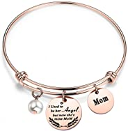 WUSUANED Memorial Jewelry I Used to Be His/Her Angel Bracelet in Memory of Loved One Dad Mom Sympathy Gift