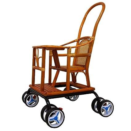 Baby Cart Light Bamboo Cochecito De Bebé Silla De Bambú Y Ratán Cuna ...