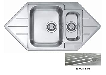 VBChome: Lavello da incasso ad angolo, 985 x 500 mm, 1,5 ...