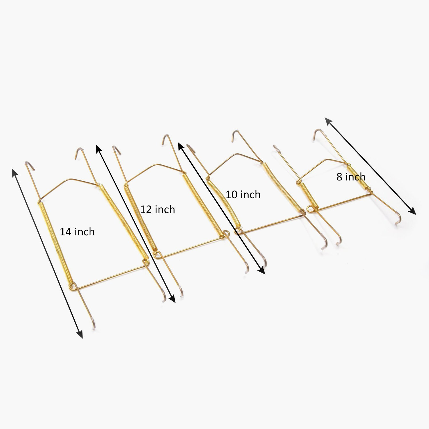 """THREE of 36-46cm WIRE WALL PLATE DISPLAY HANGER Maximum Plate Size 14/""""-18/"""""""