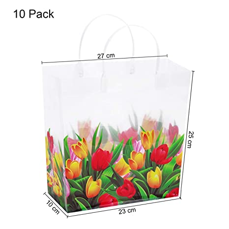 Amazon.com: 10 PCS Transparent Gift Bags with Handles ...