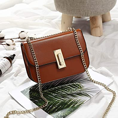 3711202b7944f Image Unavailable. Image not available for. Color: Women Chain Messenger  Bags Ladies Tote Small shoulder bag woman brand leather handbag crossbody  ...