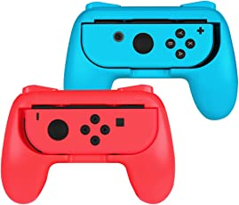 Fintie Grip for Nintendo Switch Joy-Con, [Ergonomic Design] Wear-Resistant Comfort Game Controller Handle Kit for Nintendo Switch Joy Con (2-Pack), Blue Red