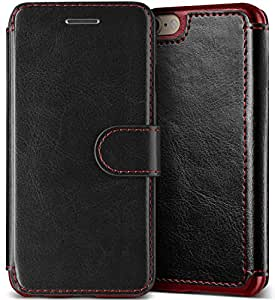 iPhone 7 Case, (Savant - Black) (Wallet Card Storage) Premium PU Leather Wallet (Slim Portfolio Card Slots) Flip Diary Cover for Apple iPhone 7 2016 by Lumion