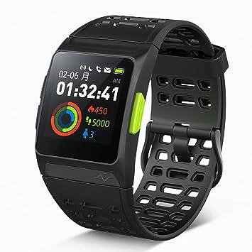 e36d707f40 GPS ランニングウォッチ P1 心拍/疲労度/睡眠測定 VO2Max測定 Twitter/LINE