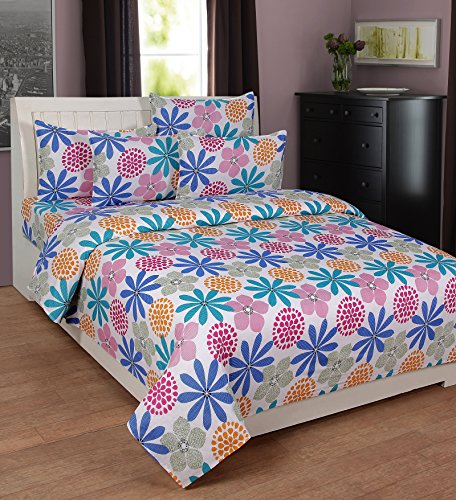 Zesture Bring Home Premium 100 % cotton double bedsheet with 2 pillow covers -(225 x 230 cms)