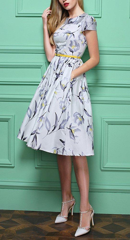 Finding a proper vintage floral dress size