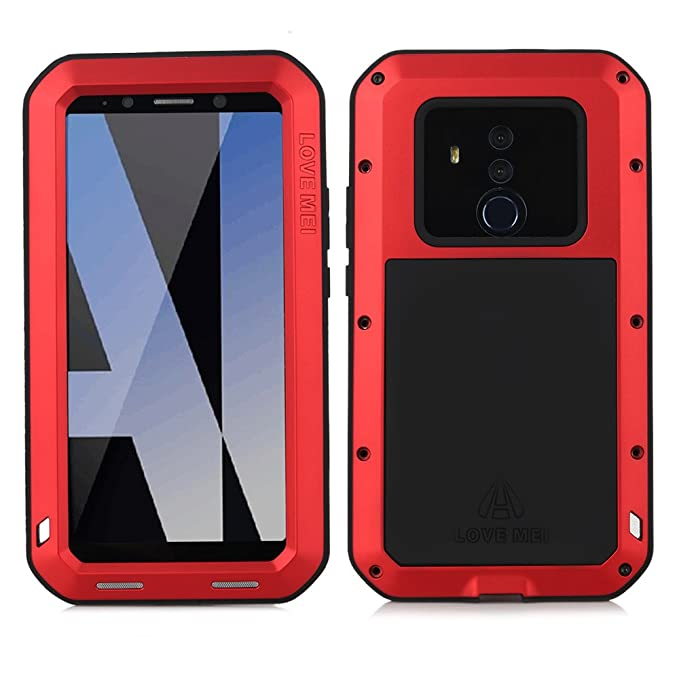 finest selection d6fd9 f98ee Huawei Mate 10 Pro Case, Cresee Hybrid Armor Alloy Aluminum Metal Bumper  Case Rubber Silicone Gorilla Glass Military Heavy Duty Shockproof Water ...