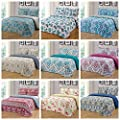 MarCielo 3 Piece Quilted Bedspread, Printed Quilt, Quilt Set Bedding Throw Blanket Coverlet Lightweight Bedspread Ensemble