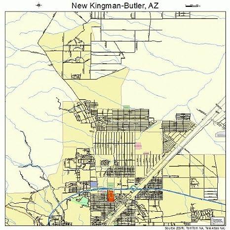 Map Of Arizona Kingman.Amazon Com Large Street Road Map Of New Kingman Butler Arizona