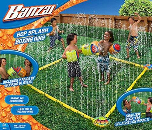 Bop Splash Summer Fun 7' Square Water-sprinkling Boxing Ring with...