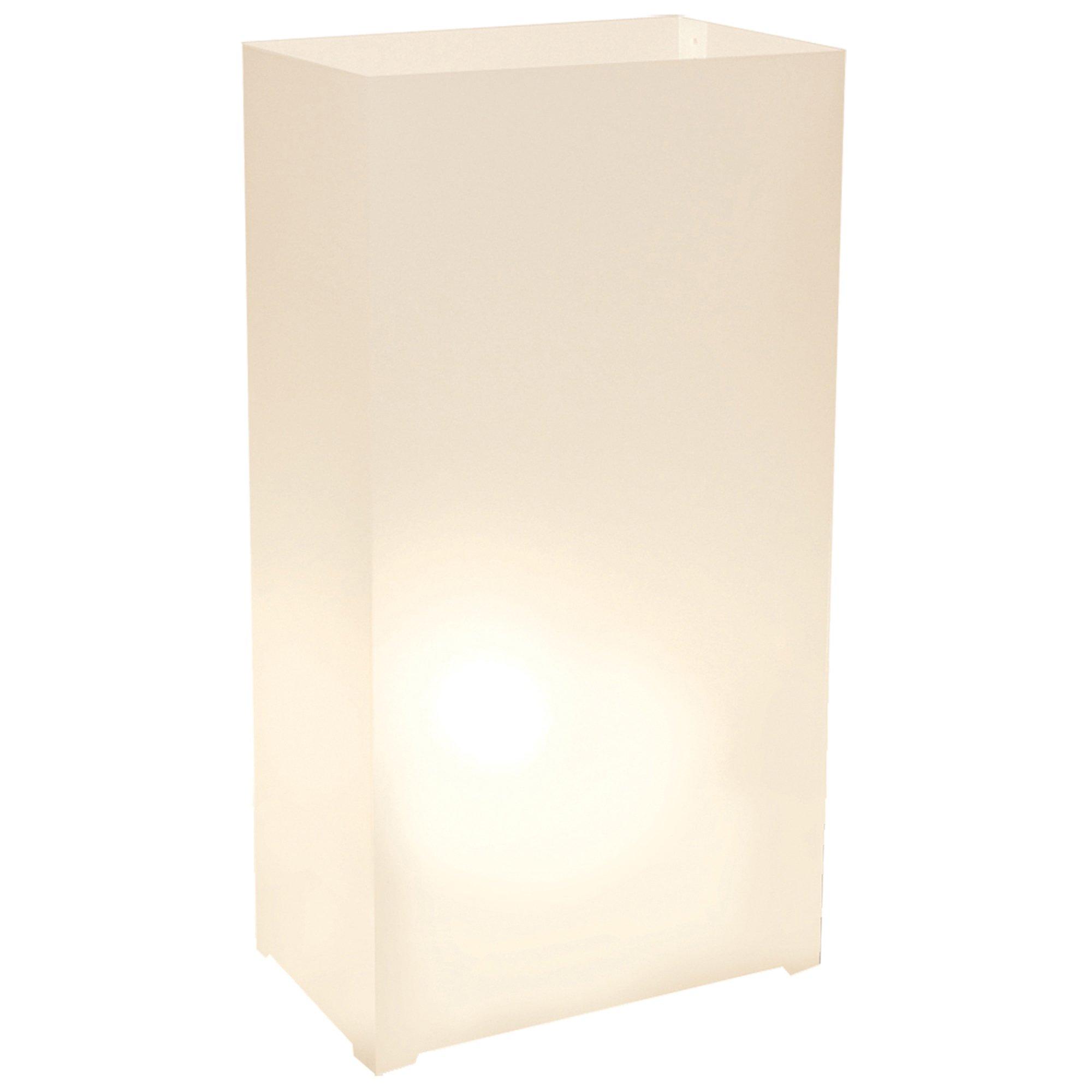 Lumabase 318100 100 Count Plastic Lanterns, White by Lumabase