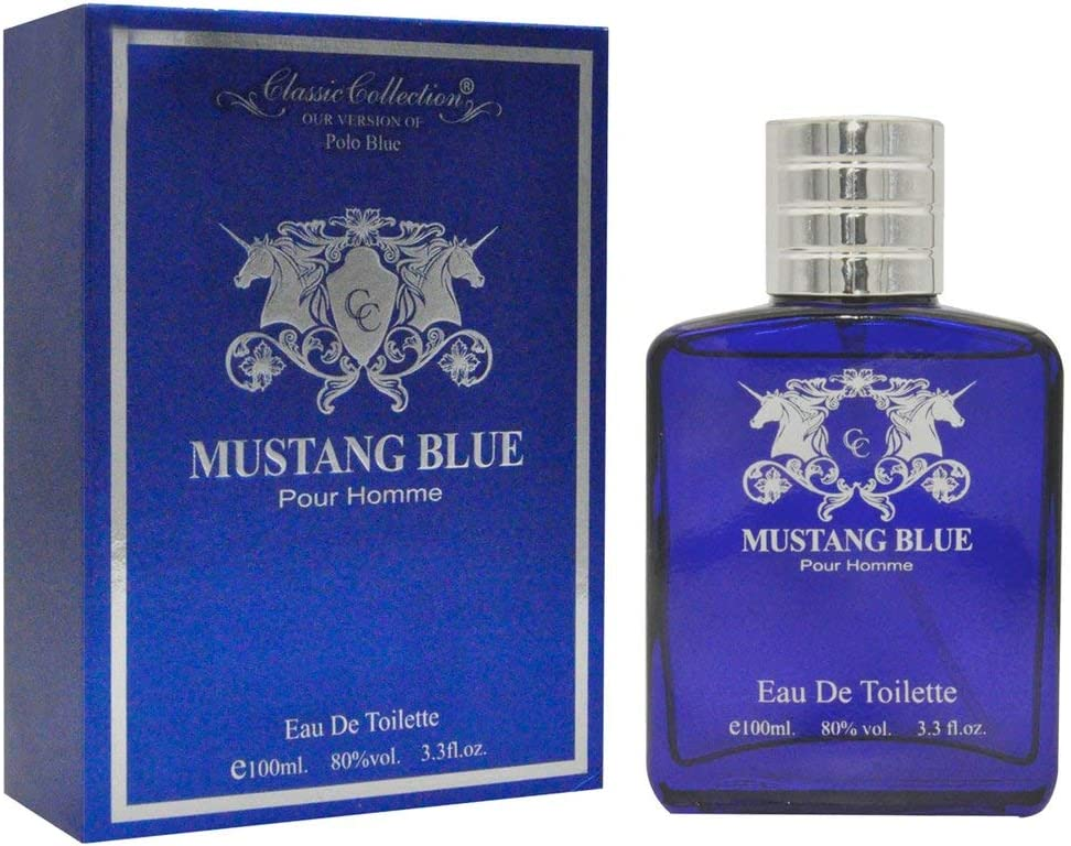 Mustang Blue Polo Mens Perfume Eau De Toilette 100ml/3.3oz (Our ...