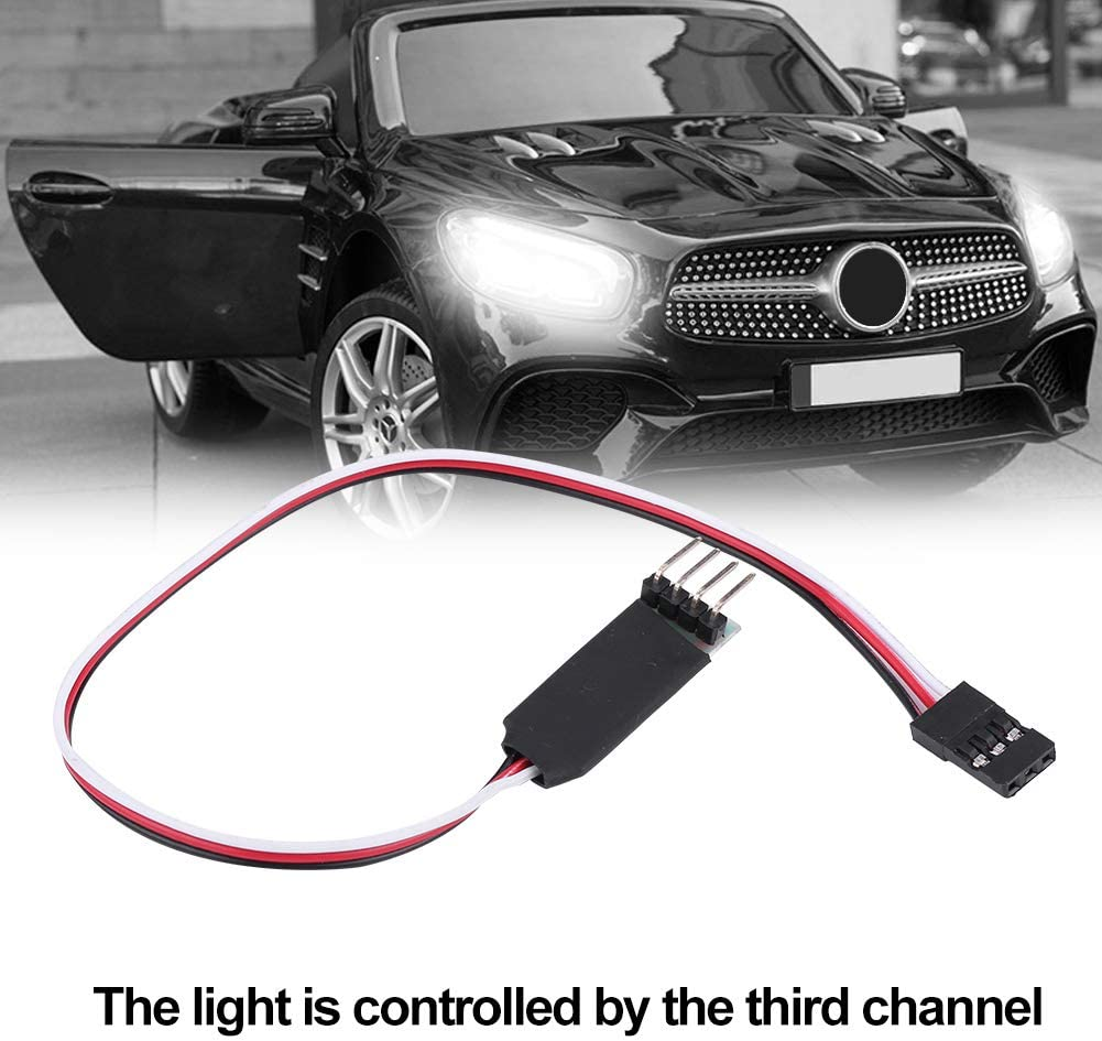 190mm Light Switch System Extension Cable Wire For RC Model Car Flash LED 3CH Dilwe RC Car Extension Cable