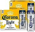 Cerveza Clara Corona Light lata de 2 12 pack de 355ml c/u total 24 latas